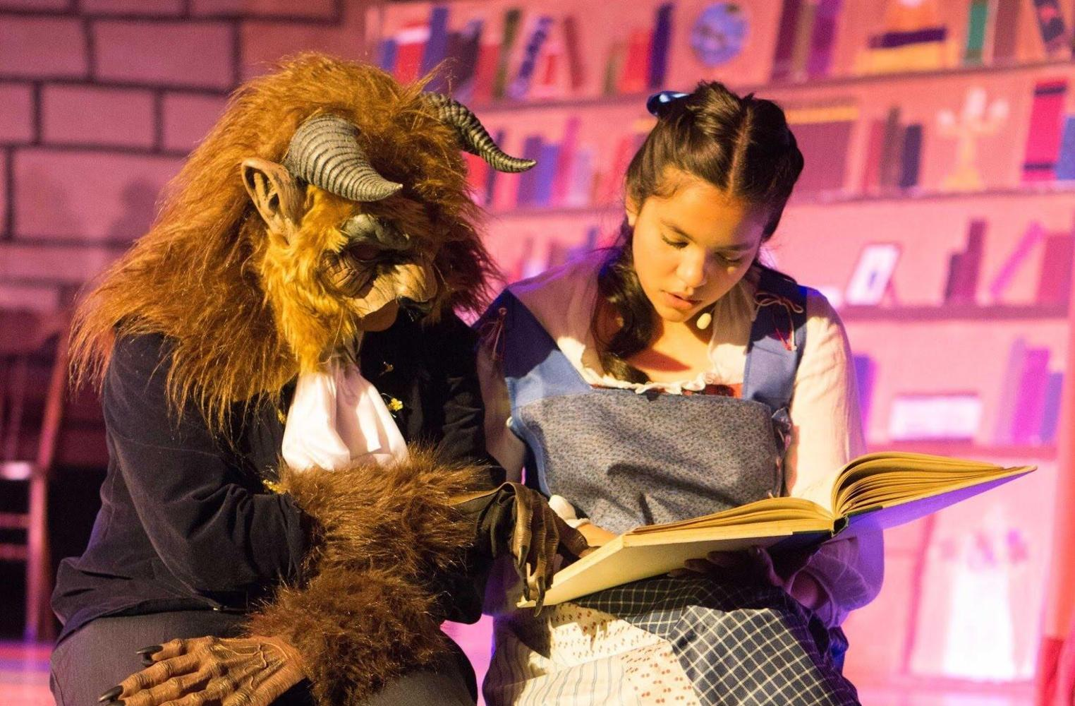 drama class performing Beauty and the Beast