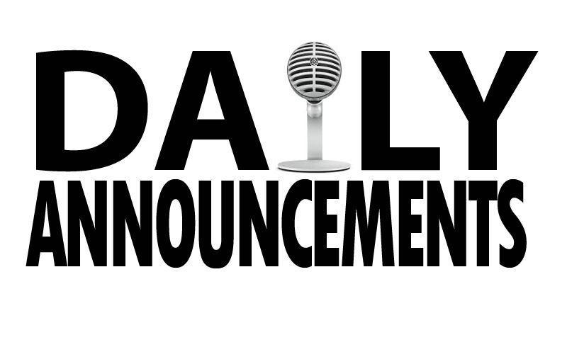 Read Our Daily Announcements Thumbnail Image