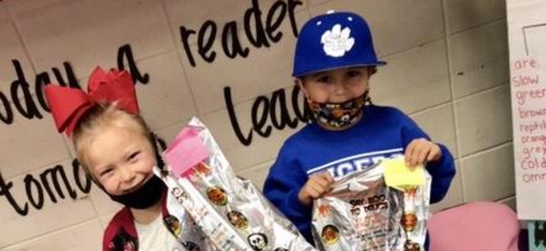 Kindergarten Poster Winners - Girl and Boy