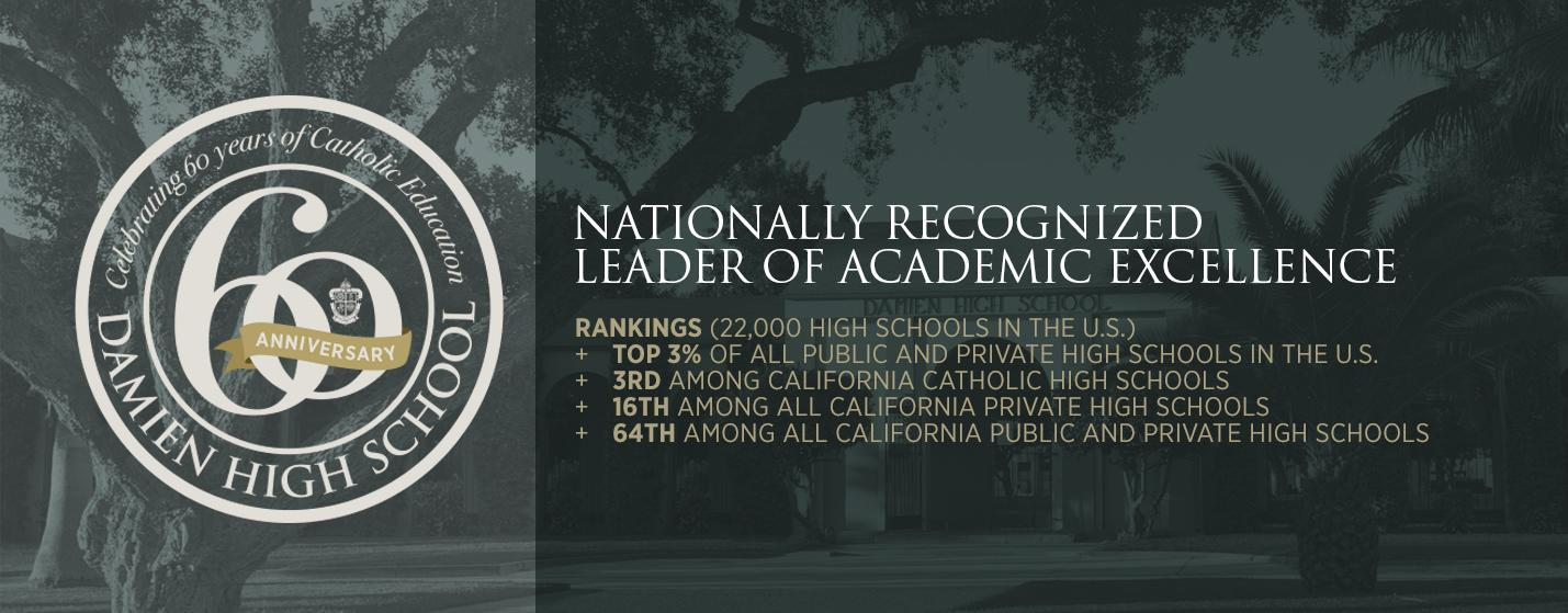 Damien High School Nationally Recognized Leader of Academic Excellence