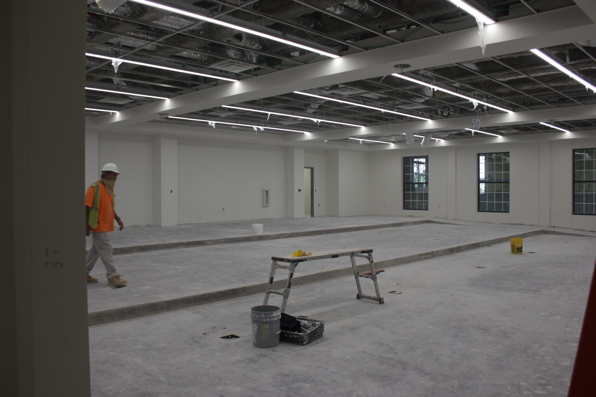 HPHS lecture hall before carpet install 122020