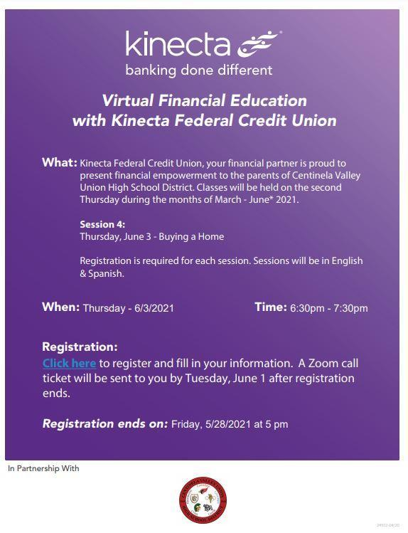 Virtual Financial Education with Kinecta Federal Credit Union/Educación financiera virtual con Kinecta Federal Credit Union Featured Photo