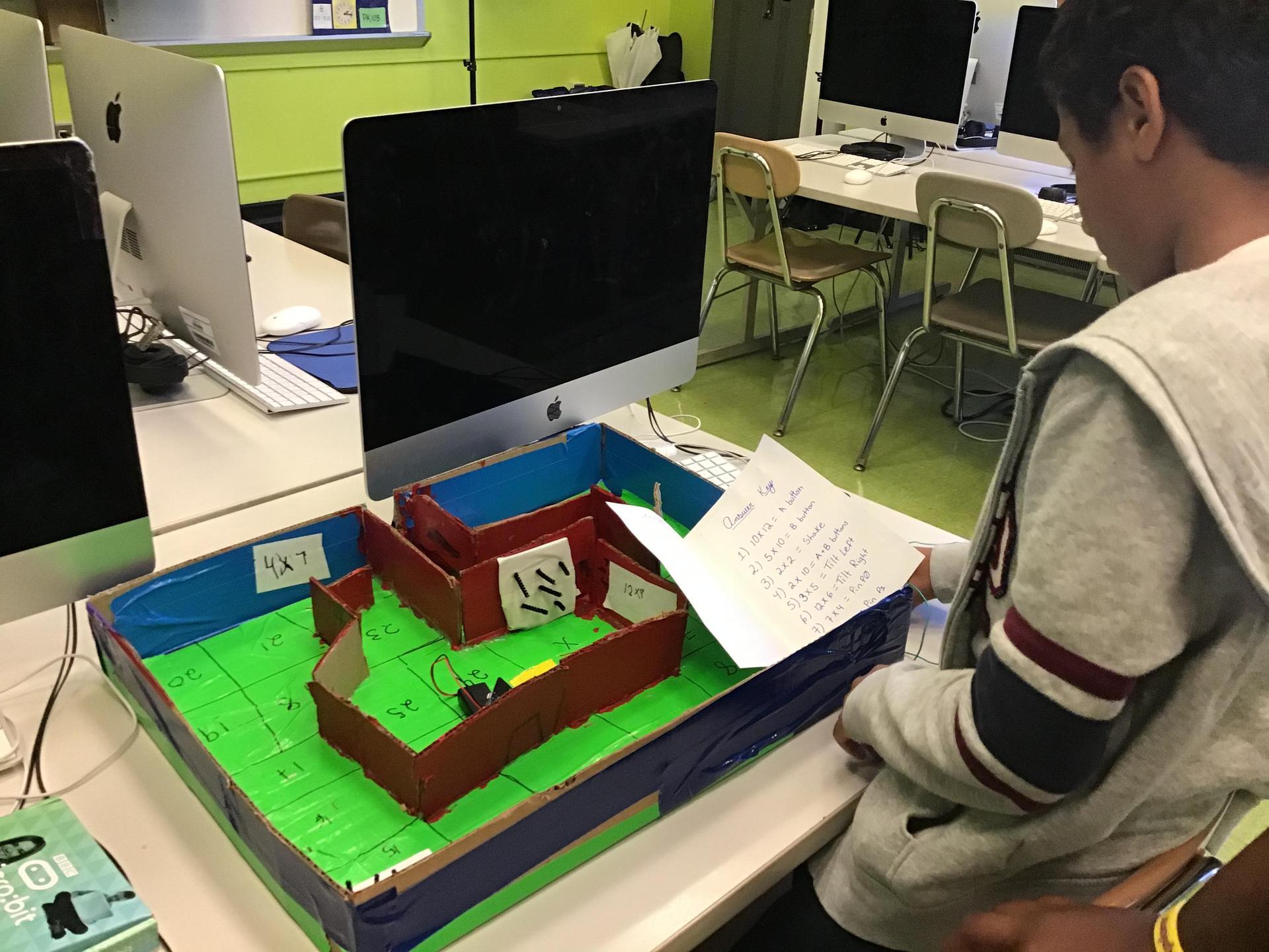 student's makey-makey game