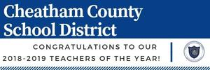 The Cheatham County School District's Teachers of the Year.