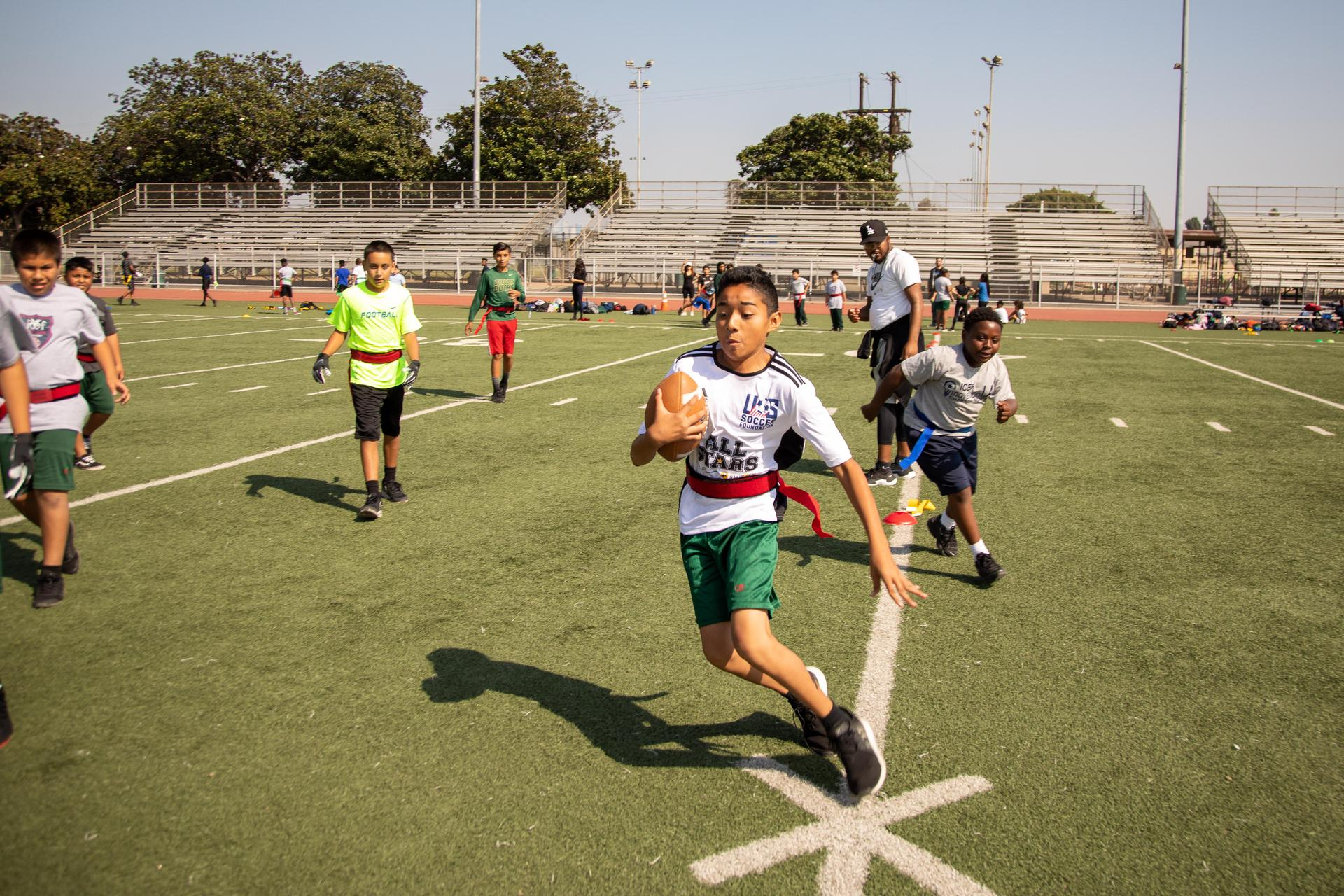 Annual ICEF Grade Level Flag Football Tournament