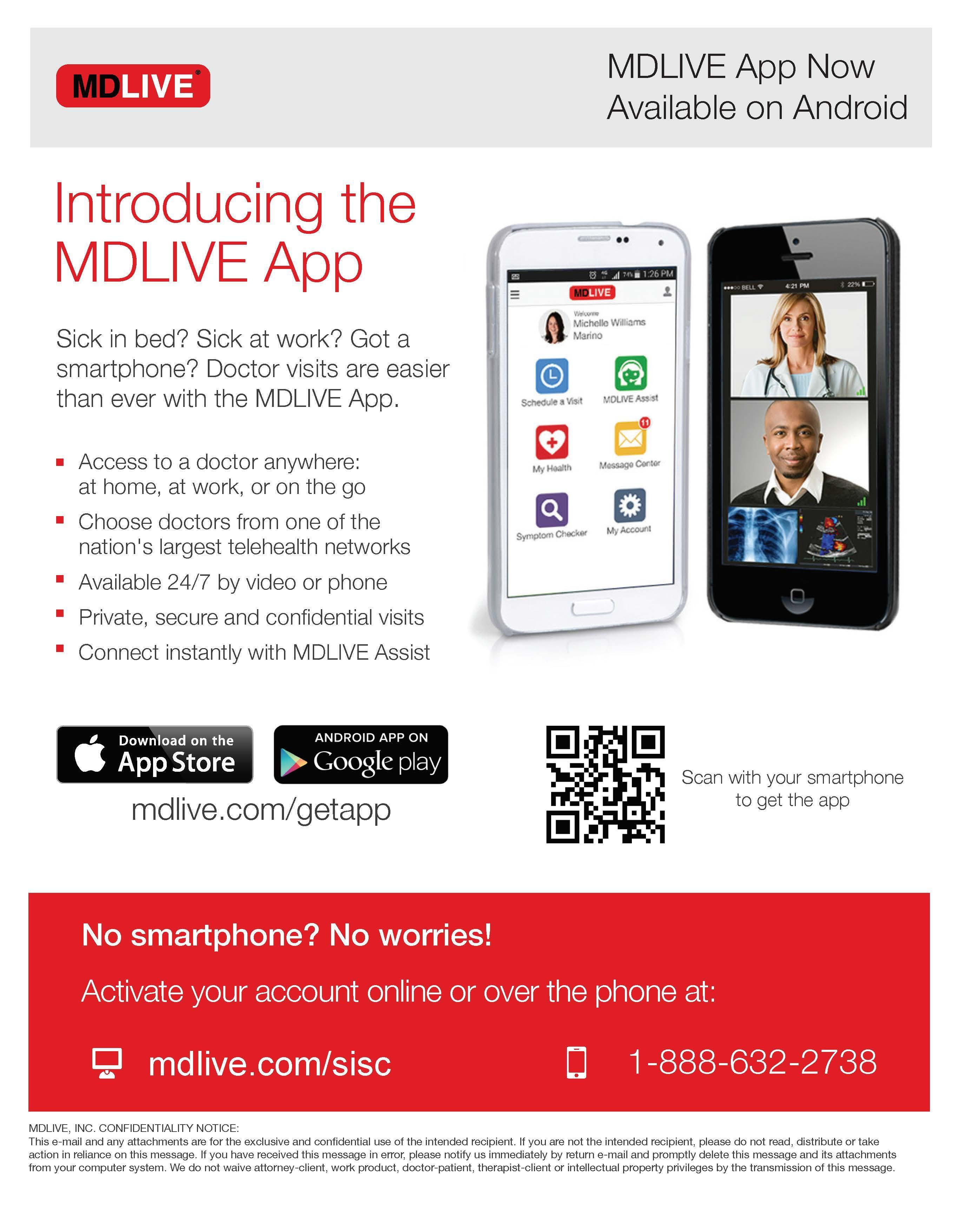 MDLIVE Android App