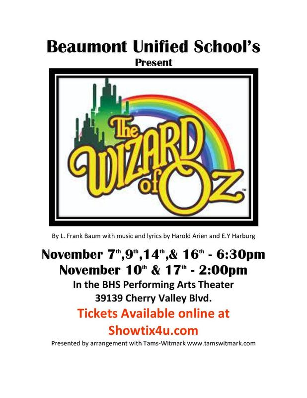 Wizard of Oz coming to BHS! Featured Photo