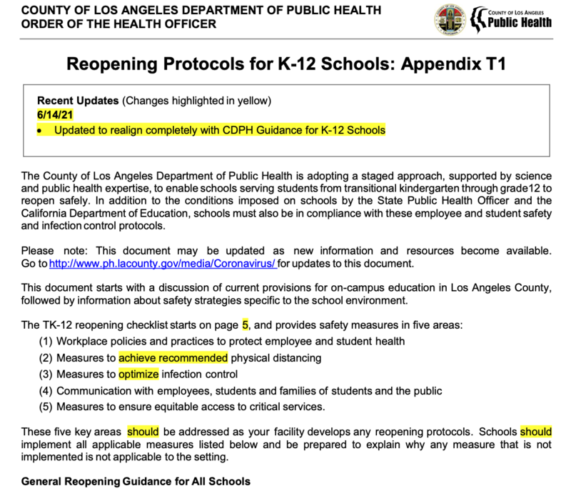 Reopening Protocols for K-12 Schools Thumbnail Image