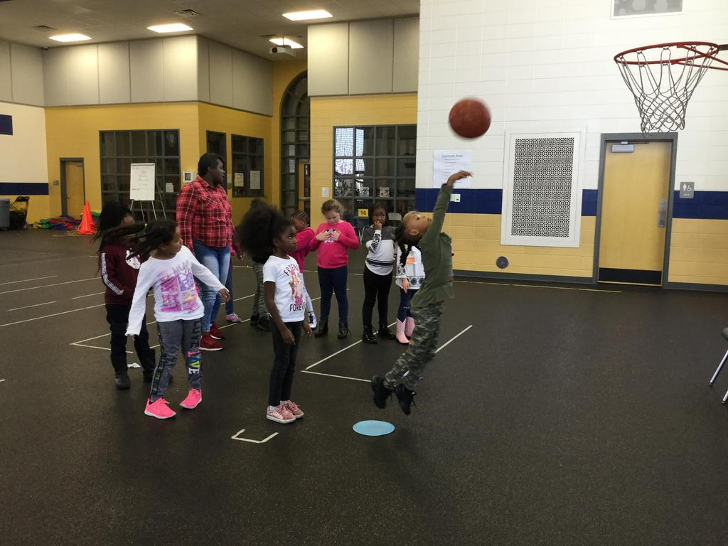 Students at P.E.