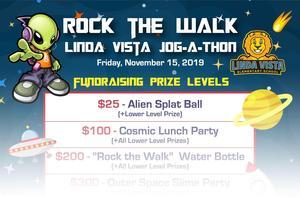 Rock the Wall: Linda Vista Jog-A-Thon Fundraising Prize Levels