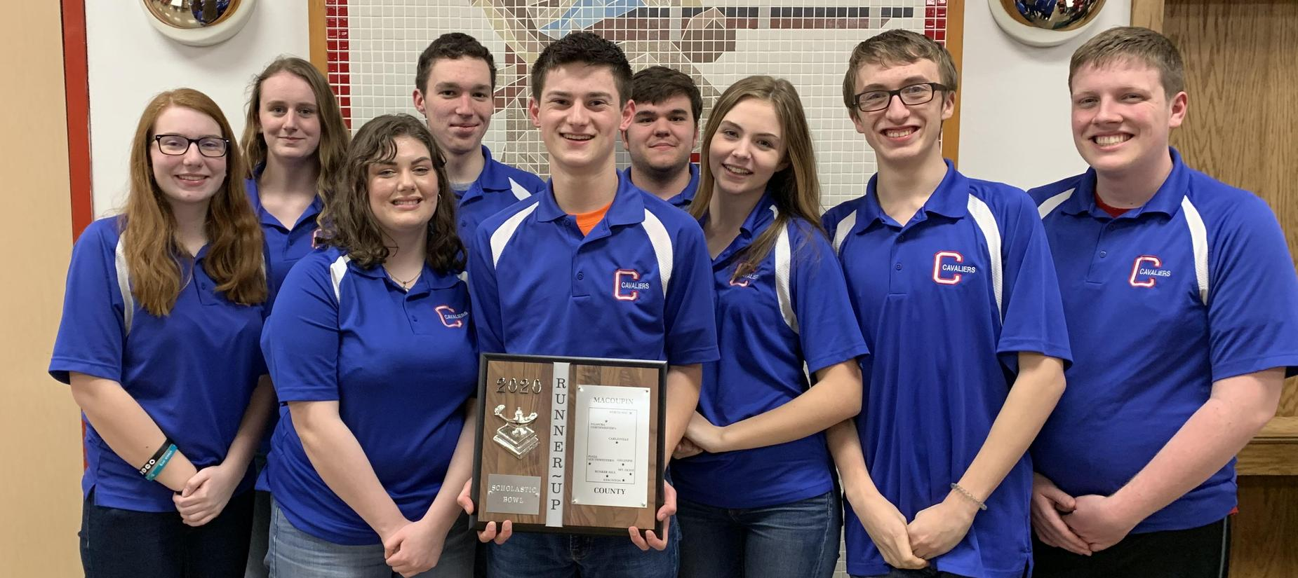CHS Scholastic Bowl team places 2nd at County Tournament