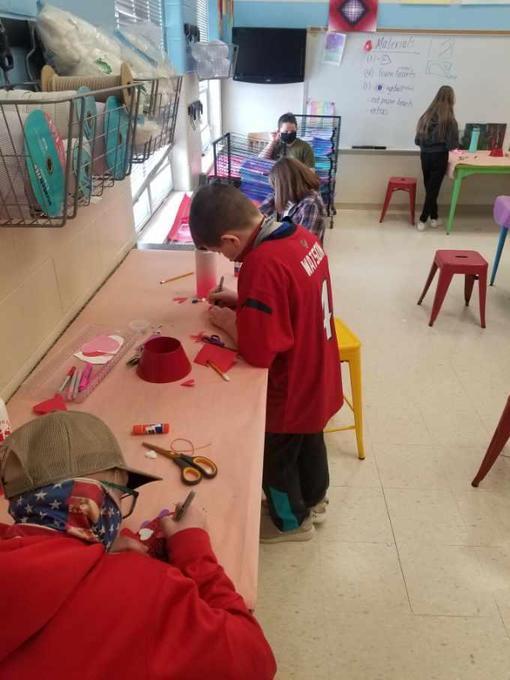 Students participate in Valentine Fun