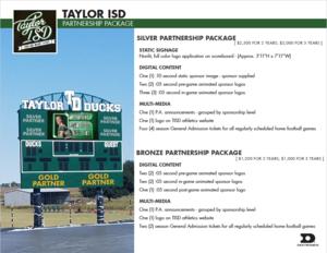 Scoreboard advertising opportunities