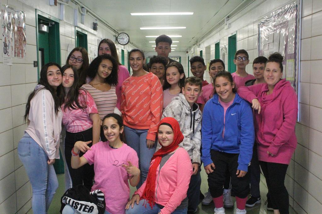 Mrs. DeSantis with 8th graders