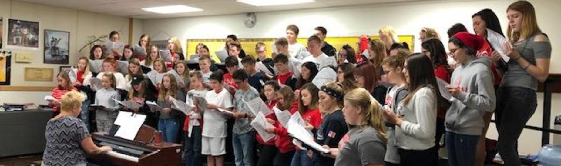 Concert Choir Rehearsing