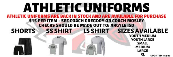 Athletic Uniforms for Sale