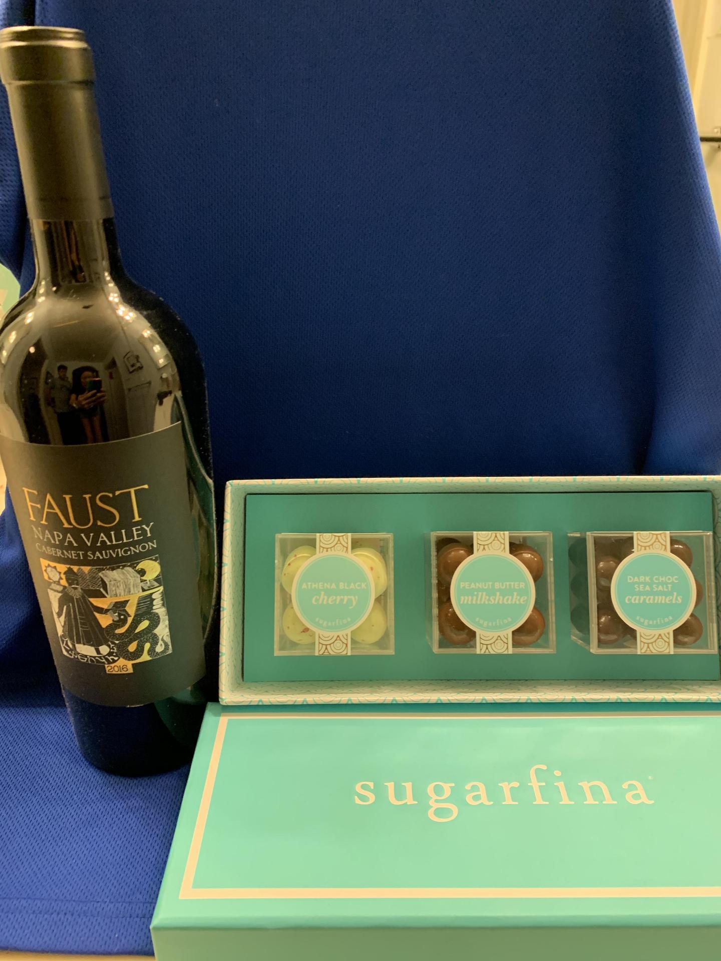 Bottle of Faust & Sugarfina