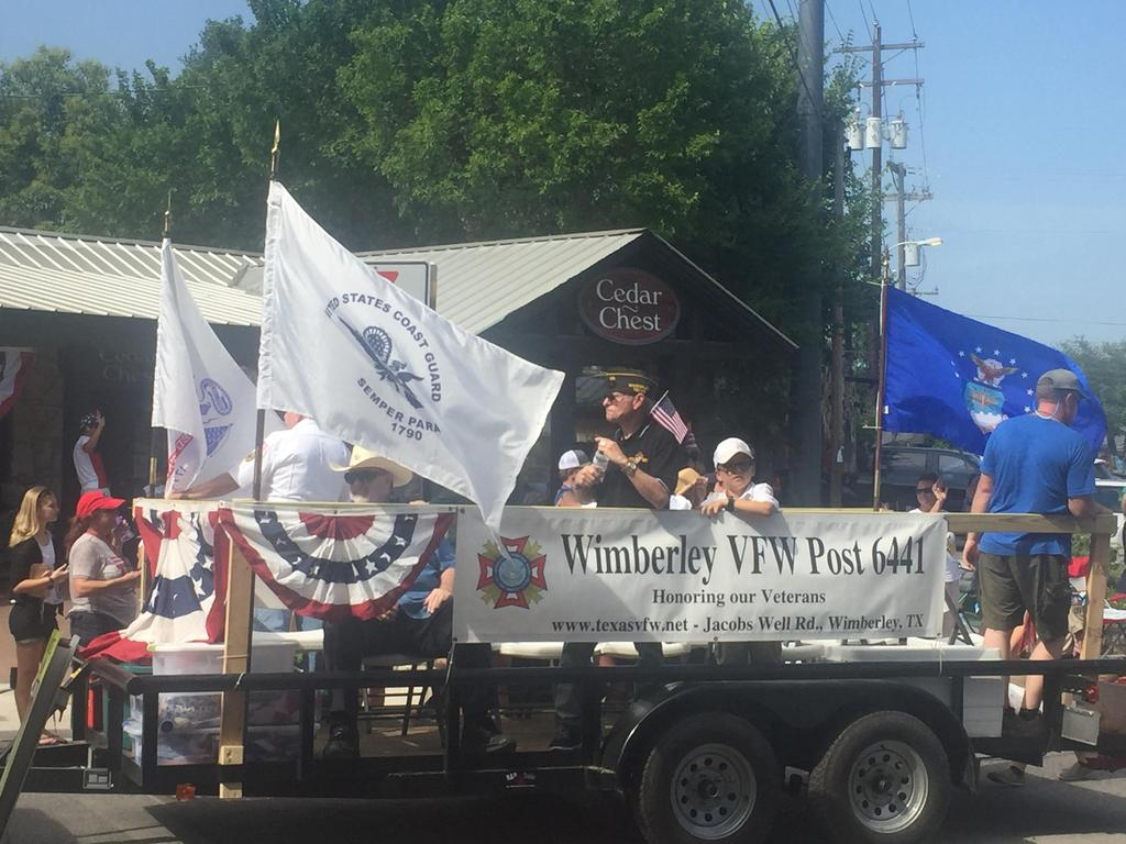 Wimberley VFW Post in 4th of July Parade