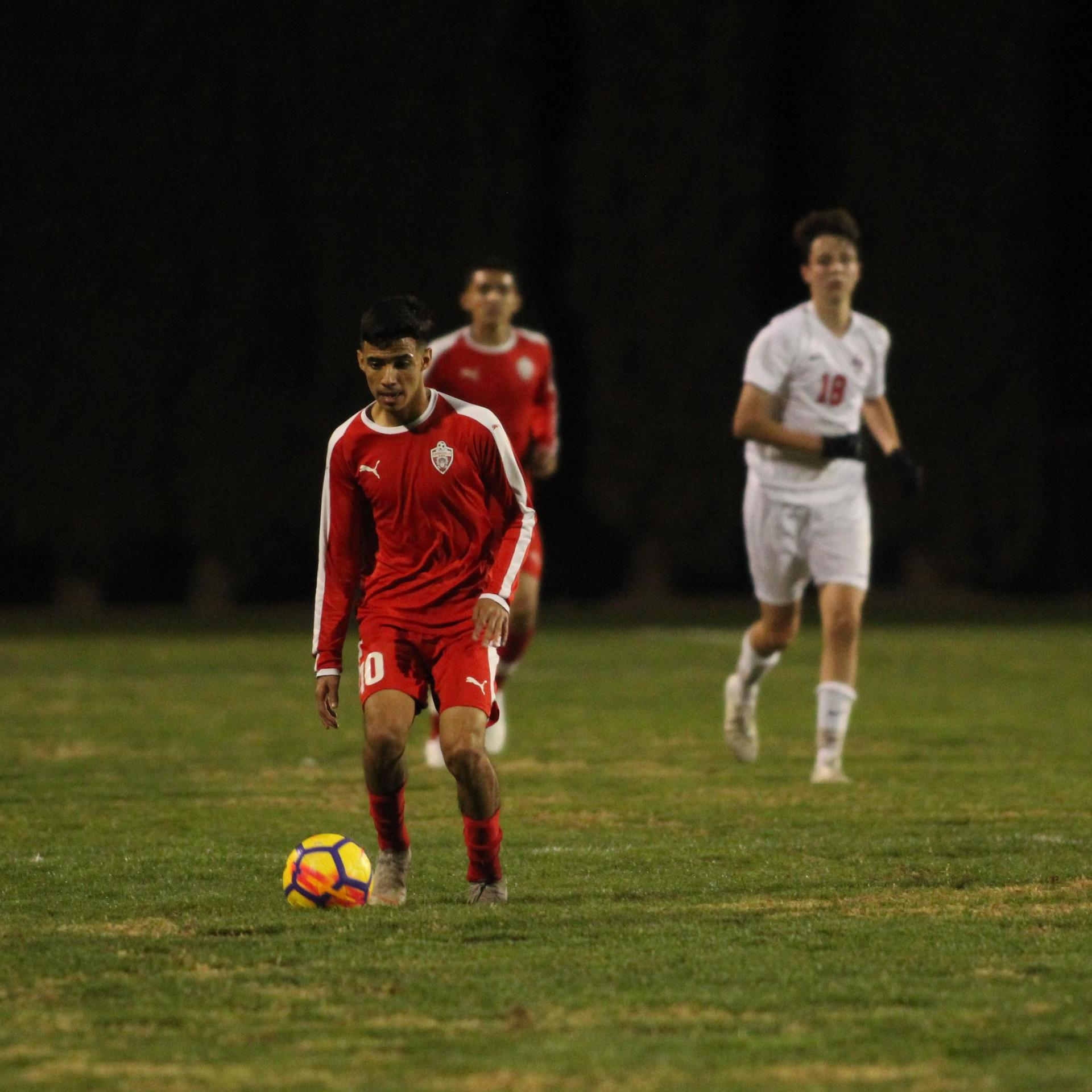 Jacob Corchado with the ball