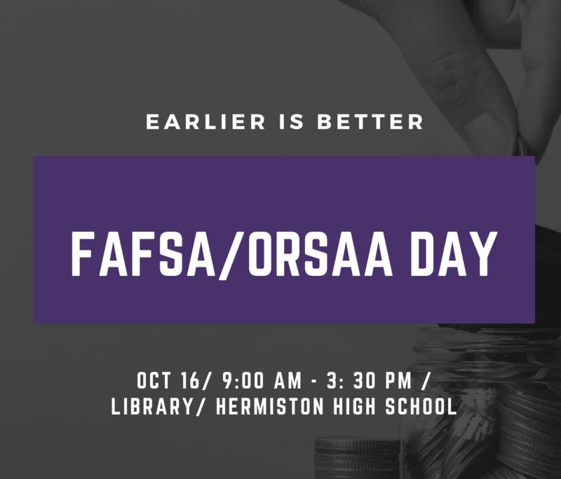 FAFSA/ORSAA Day/Día para completar la forma para solicitar ayuda financiera federal para el estudiante FAFSA/ORSAA Featured Photo
