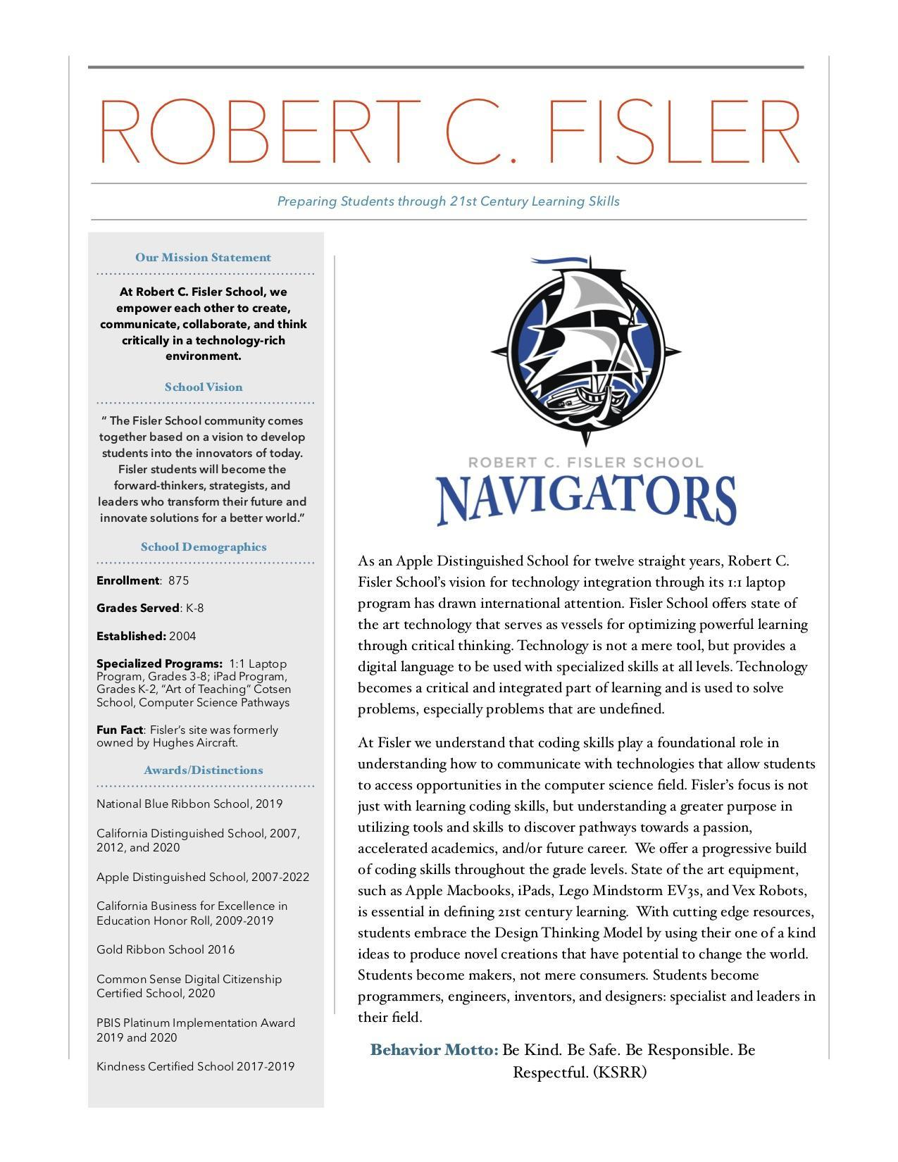 Robert C. Fisler Spotlight News