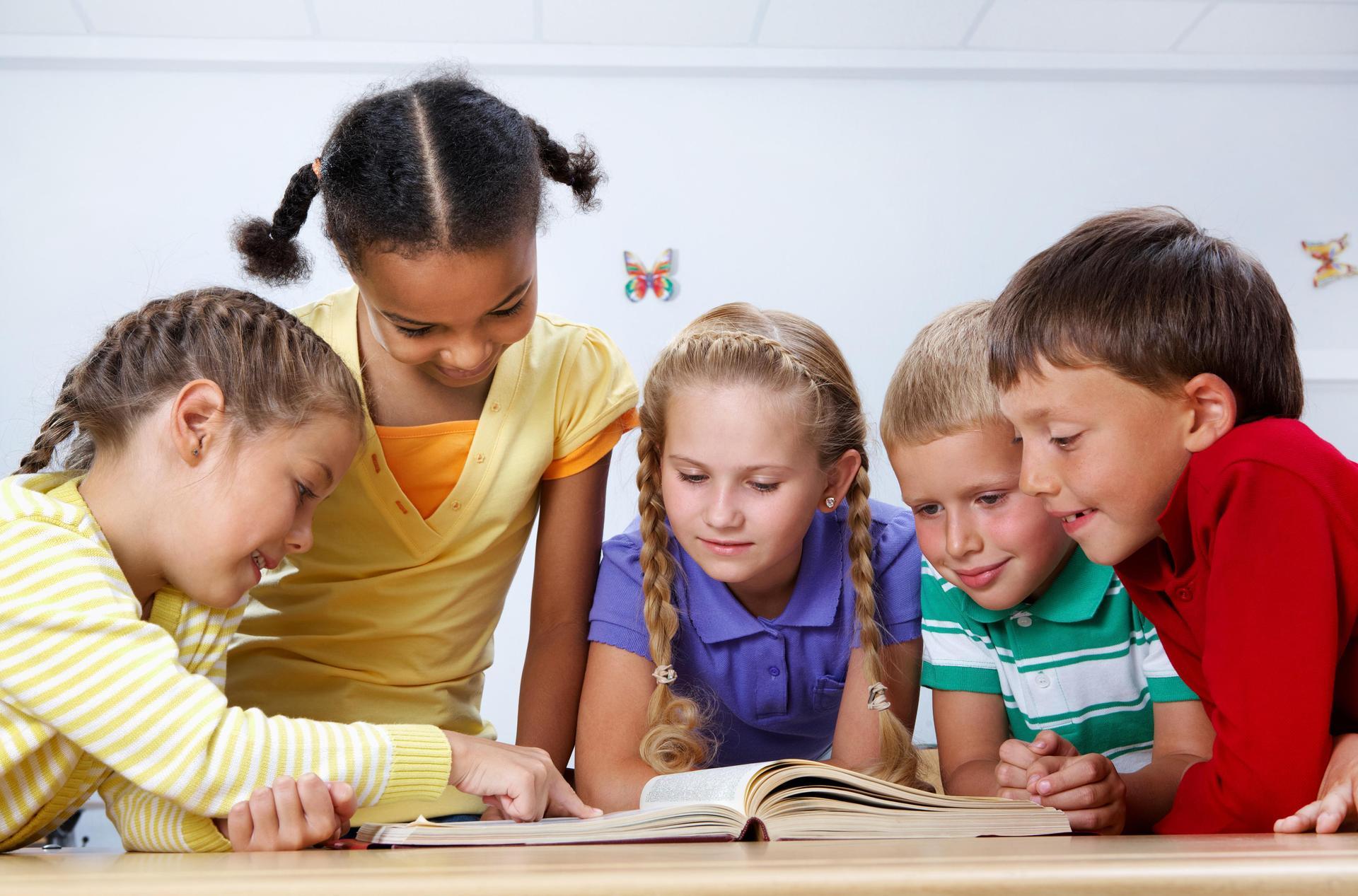 Stock photo - children reading