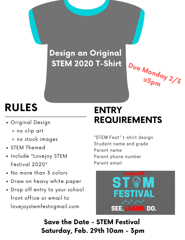 STEM T-Shirt Entry Requirements and Rules