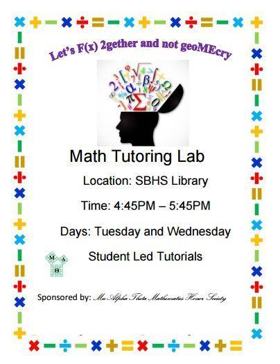 math tutoring being offered in the library
