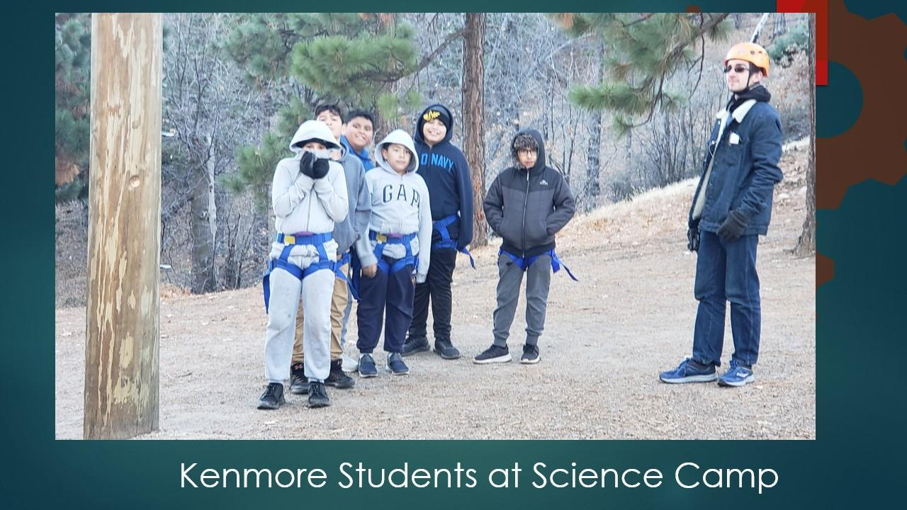 students at science camp