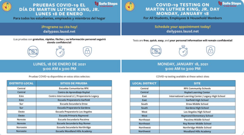 INFORMATIONAL FLYER FOR COVID-19 TESTING