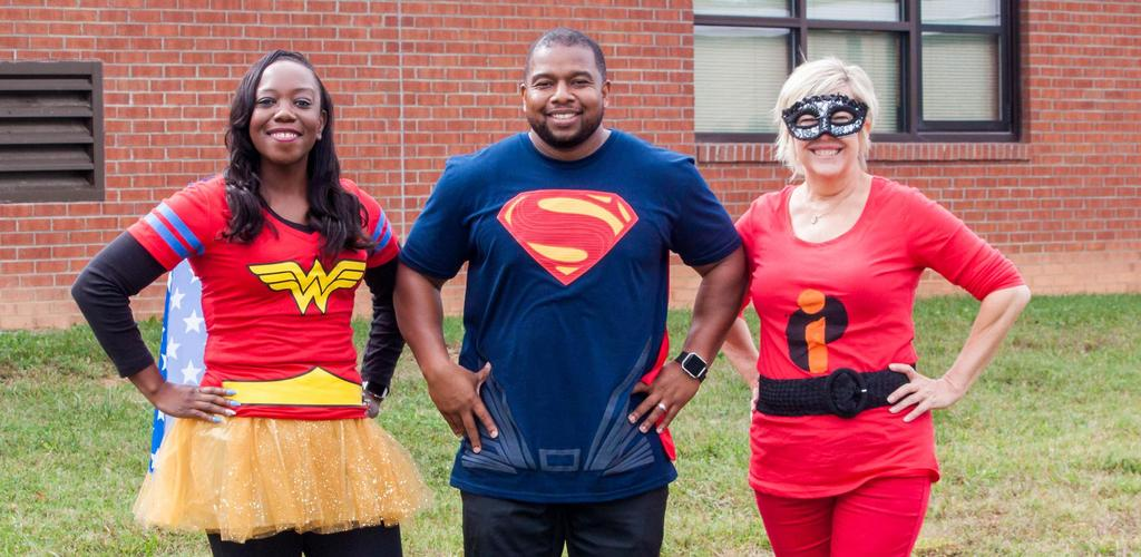 Administrators display their spirit