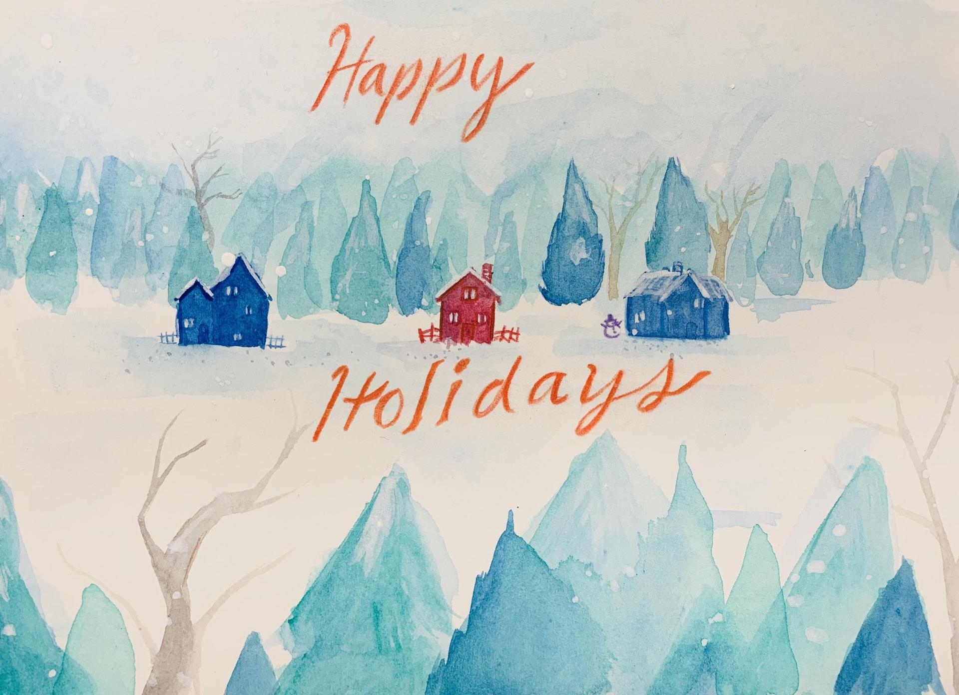 Holiday Card:  Hannah Grubb, North Davidson High