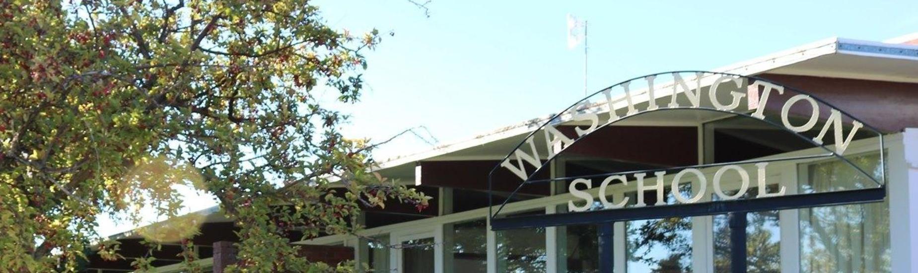 Entrance of Washington School