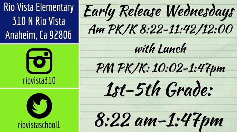 Early Release Wed
