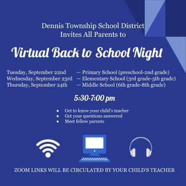 Virtual Back to School Night Thumbnail Image