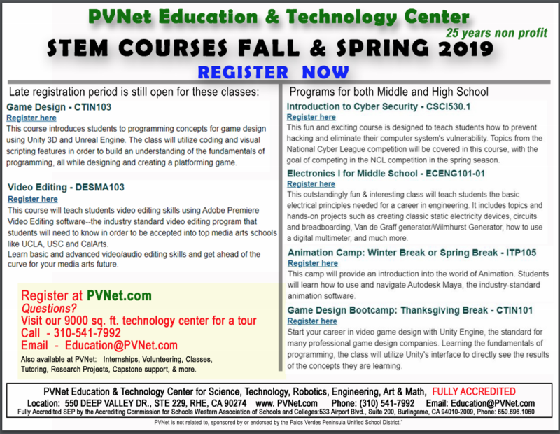 PVNet Education and Technology Center STEM Courses Fall and Spring Thumbnail Image