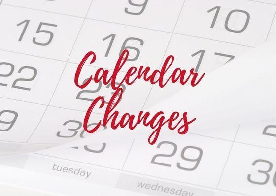Calendar Changes Featured Photo