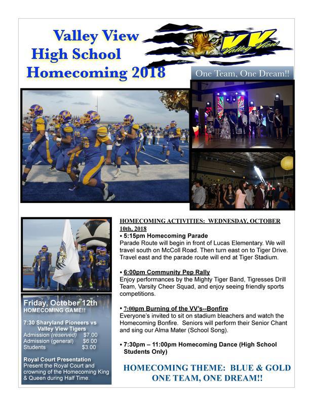 2018 Homecoming Activities!! Thumbnail Image