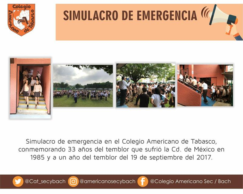 Simulacro de emergencia 19 de septiembre Featured Photo