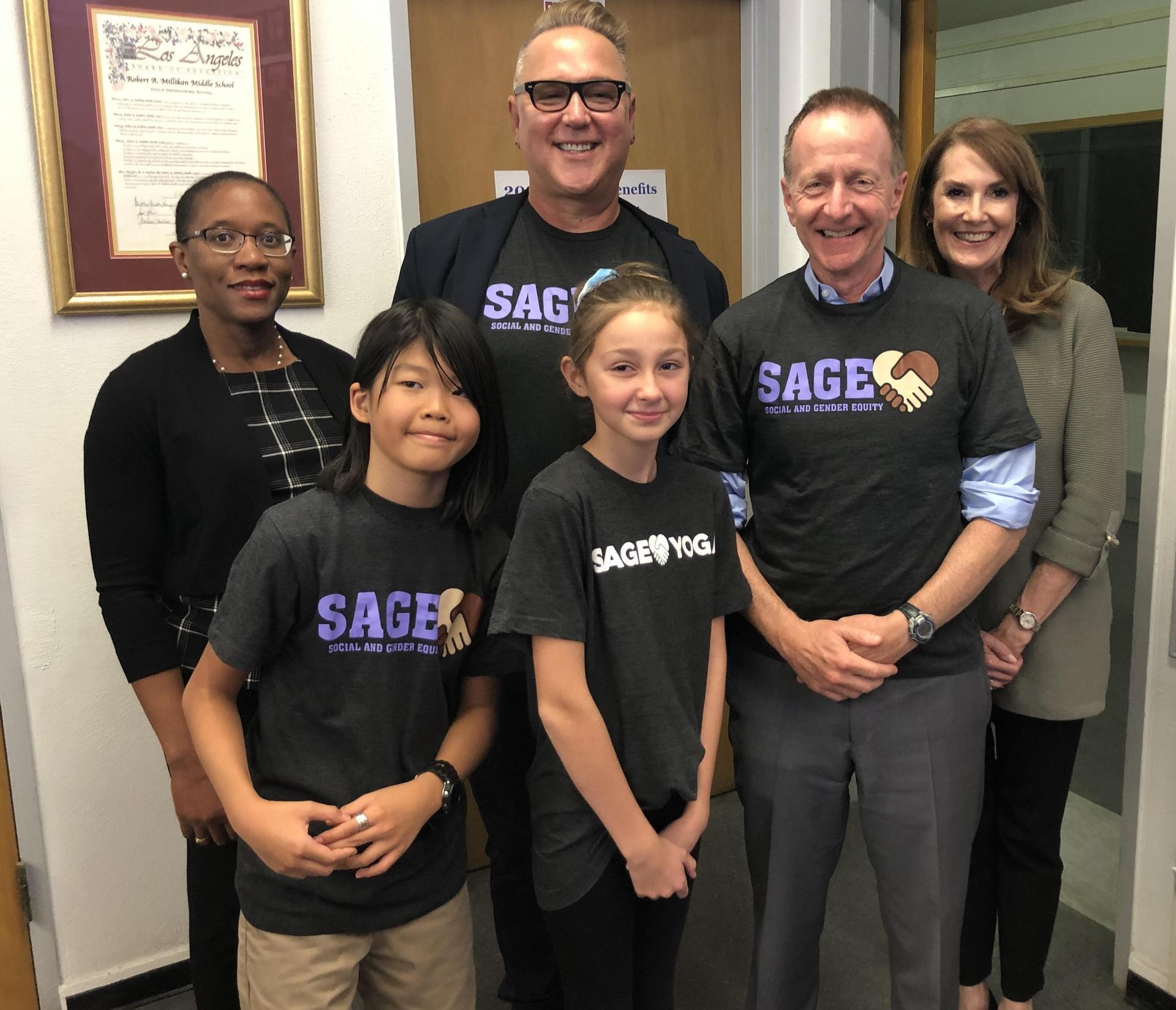 Superintendent Beutner visits SAGE!