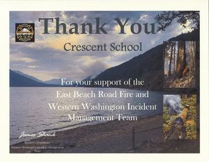 Thanks for WW Incident Management Team