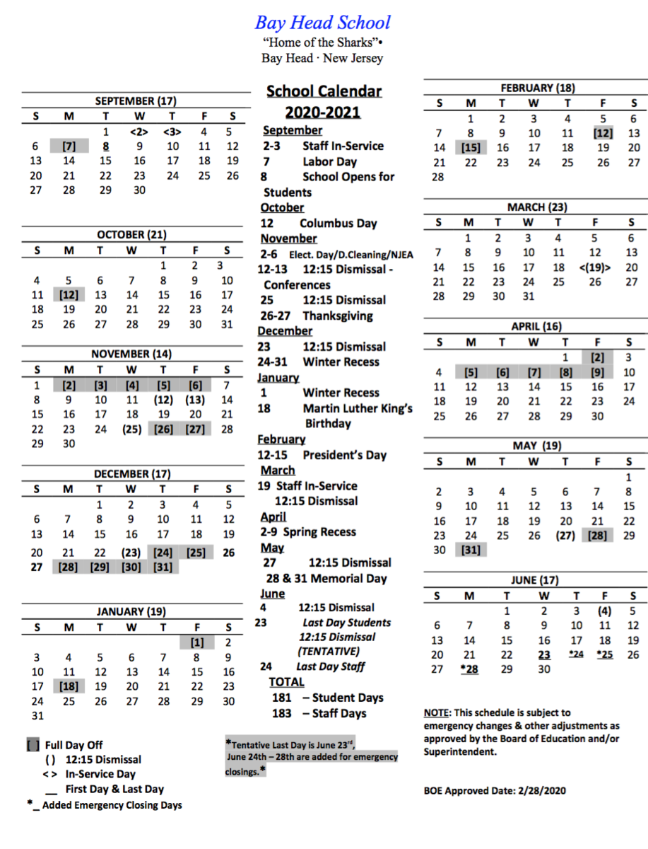 20-21 District Calendar