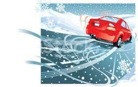 clip art of car skidding on ice