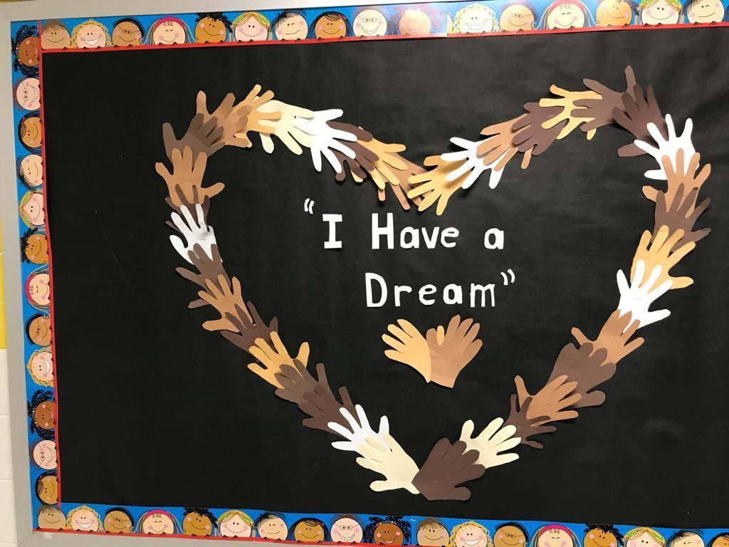 i have a dream students hands art work activity display