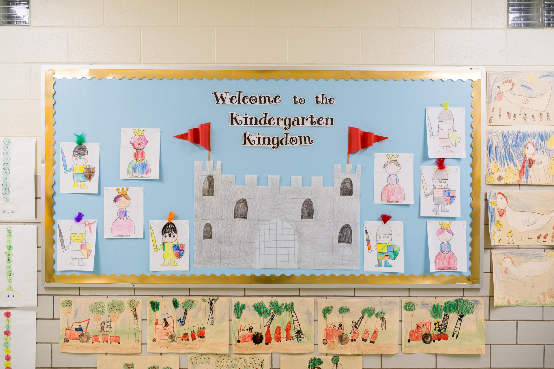 K bulletin board welcome