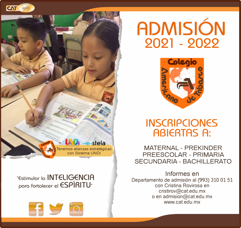 PRIMARIA: ADMISIÓN 2020 - 2021 Featured Photo