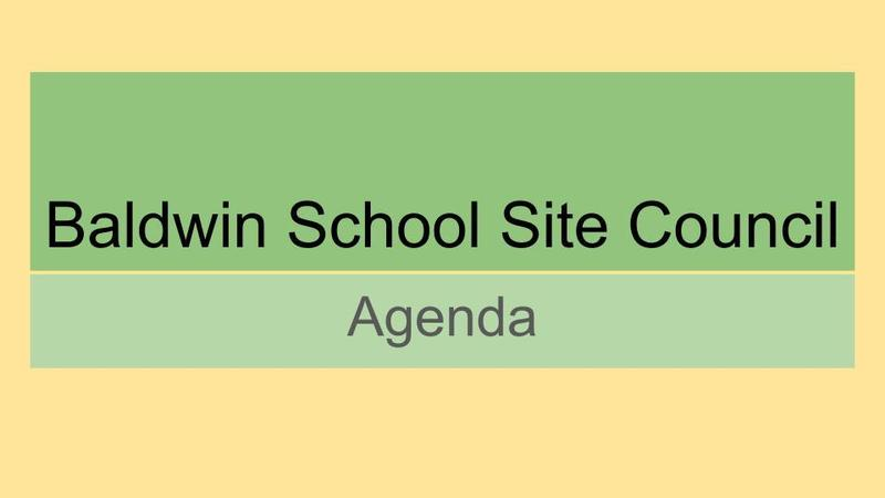 School Site Council Meeting Agenda - September 30th at 2:45 pm Featured Photo