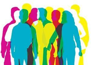 Colorful people clipart
