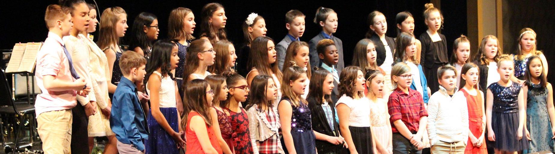 5th grade chorus at Richard Mann Elementary