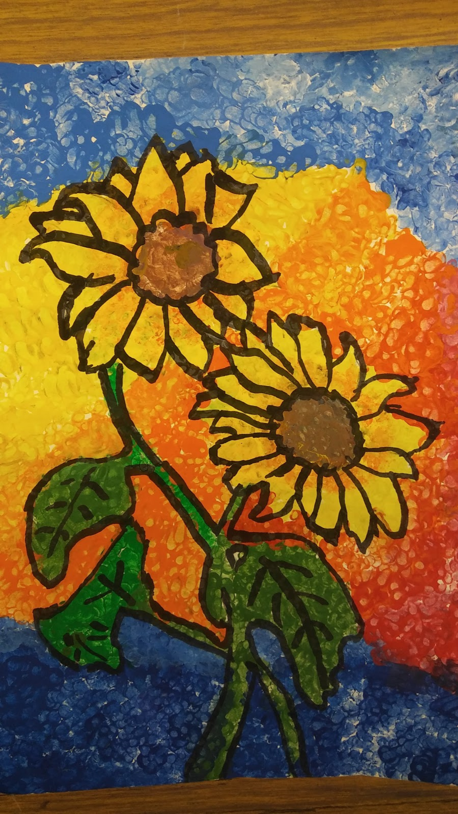 Landmark Student Painting of Sunflower